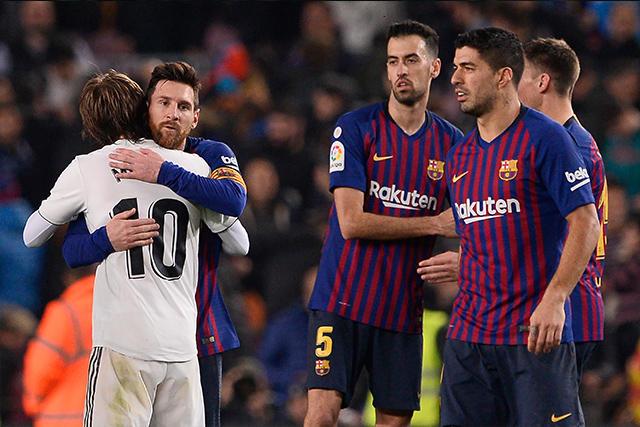 Despedida de Messi y Modric después del Clásico