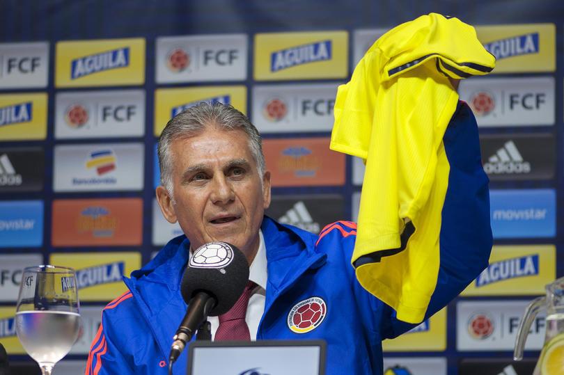 Carlos Queiroz en su presentación como nuevo técnico de Colombia