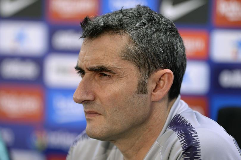 Ernesto Valverde en conferencia de prensa
