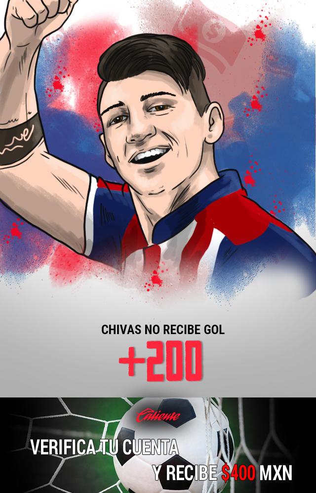 Si crees que Chivas no recibe gol en el partido vs Necaxa, apuesta en Caliente y llévate mucho dinero.