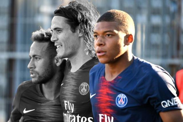 Mbappé será el único del tridente que jugará contra Manchester