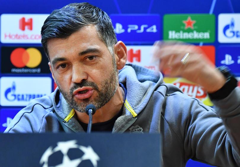 Sergio Conceicao en conferencia de prensa previo al Roma vs Porto