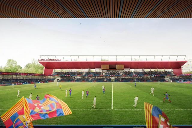 Proyecto del Estadio Johan Cruyff en la Ciutat Esportiva Joan Gamper