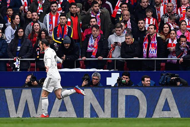 Bale celebra su gol contra el Atleti