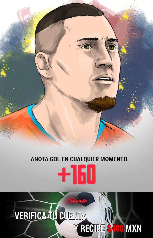 Si crees que Nico Castillo anota gol en cualquier momento vs los Pumas, apuesta en Caliente y llévate mucho dinero.