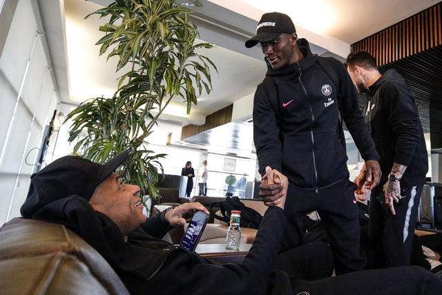 Mbappé en la concentración del PSG