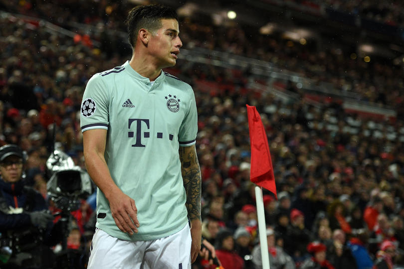 James Rodríguez en Anfield