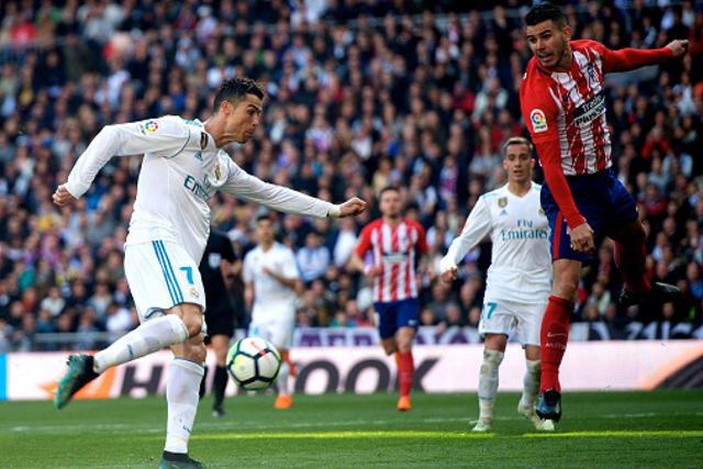 Cristiano contra el Atlético de Madrid