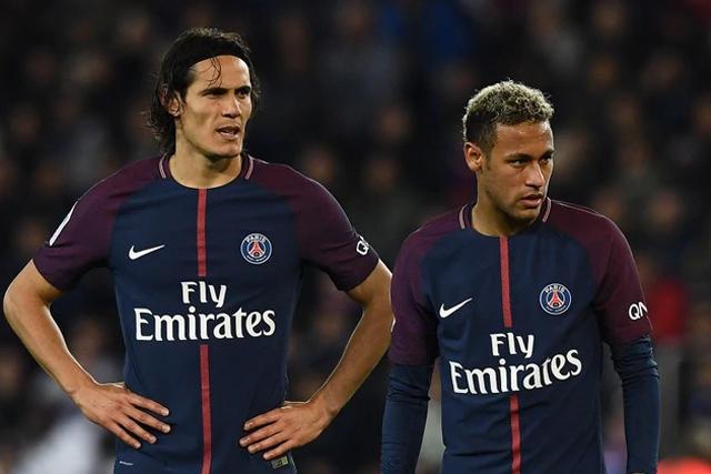 Edinson Cavani y Neymar
