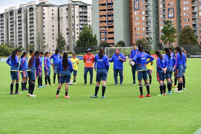 Jugadoras de la selección de fútbol de Colombia