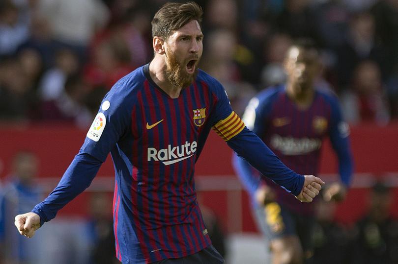 Lionel Messi en el Sánchez-Pizjuán