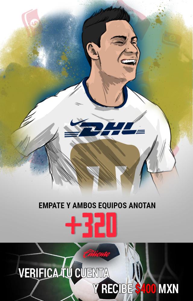 Si crees que el partido Pumas vs León termina en empate y ambos equipos anotan, apuesta en Caliente y llévate mucho dinero.