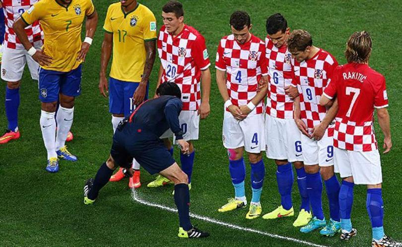 Barrera Brasil vs Croacia