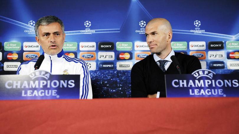 José Mourinho y Zinedine Zidane
