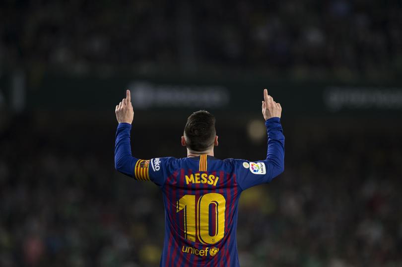 Lionel Messi en el Benito Villamarín