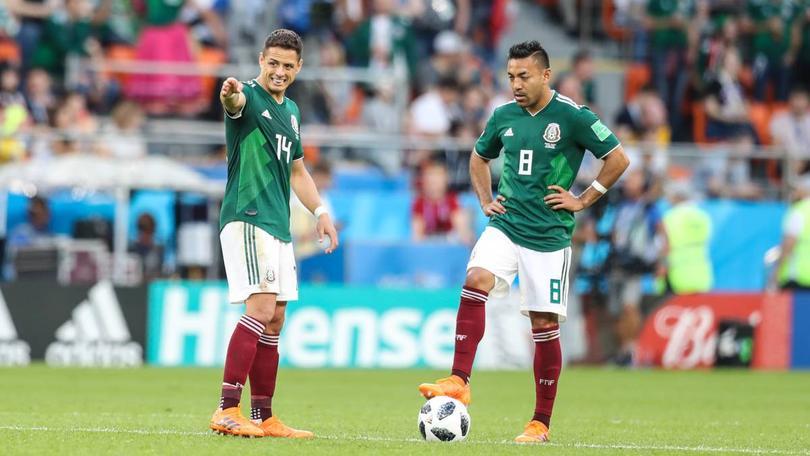 Javier Hernández y Marco Fabián
