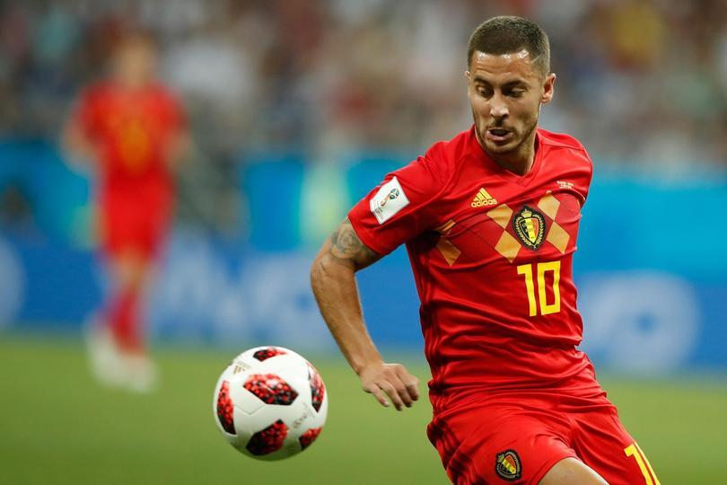 Hazard con la selecci´n de Bélgica