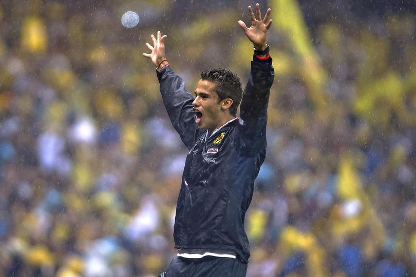 Diego Reyes en su único y último equipo de la Liga MX, el América