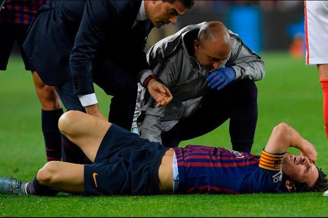 Lionel Messi no entrenó por una molestia en el pubis