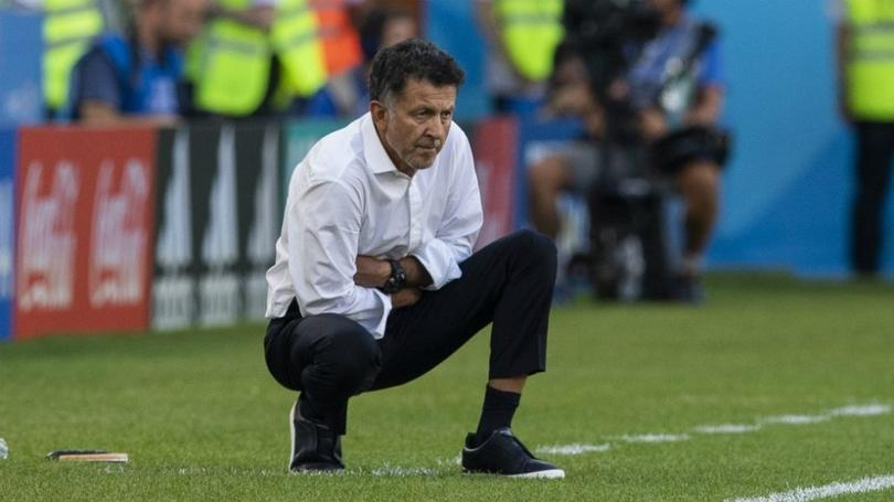 Juan Carlos Osorio en un juego con la Selección Mexicana