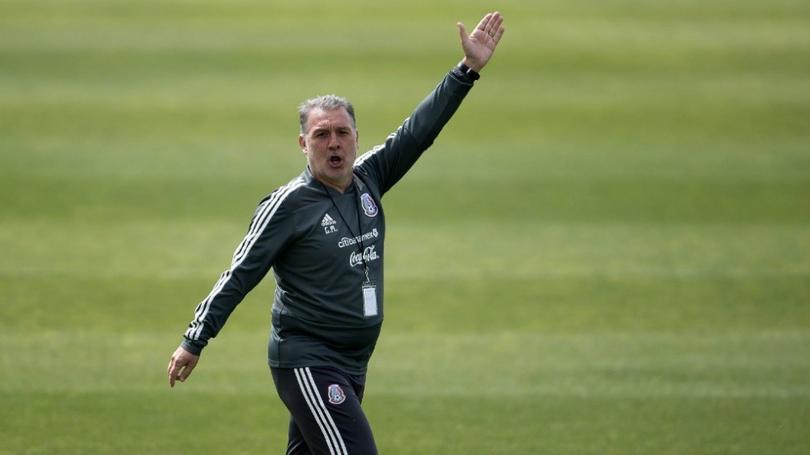 Gerardo Martino en un entrenamiento con la Selección Mexicana