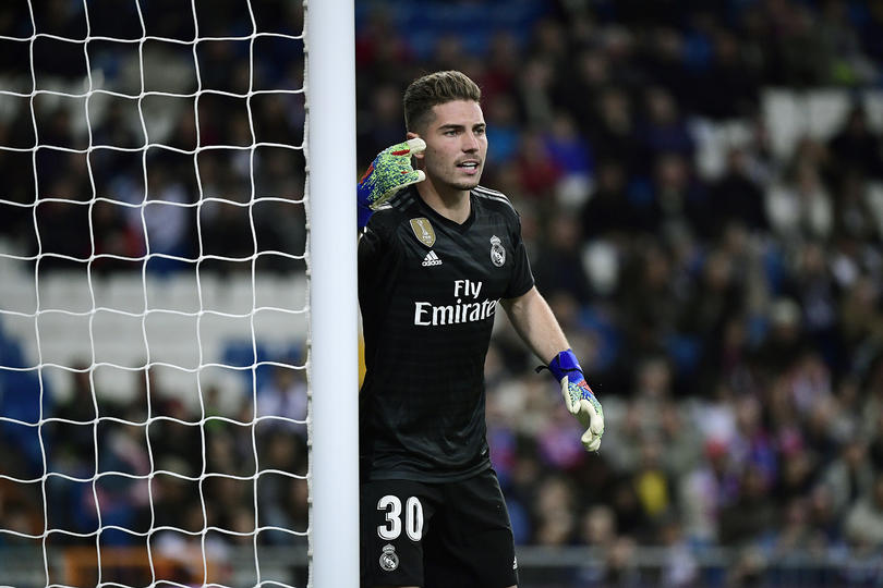 Luca Zidane defendiendo el arco del Real Madrid