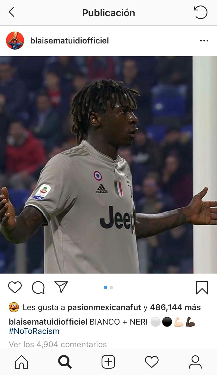 Blaise Matuidi en su cuenta de Instagram