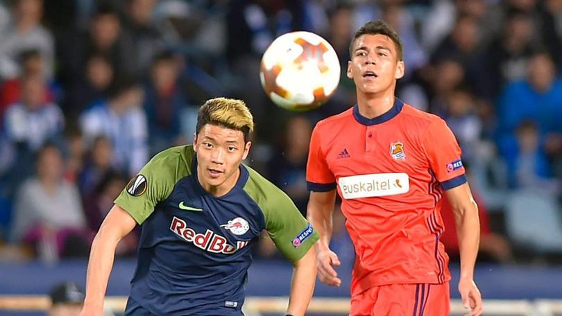 Héctor Moreno en un partido con la Real Sociedad
