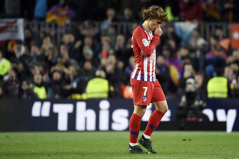 Griezmann recibió la rechifla de la afición en el Camp Nou