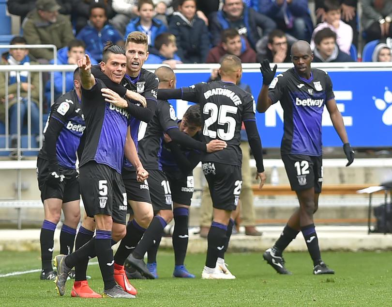 Jonathan Silva y el Leganés festejan gol ante el Alavés