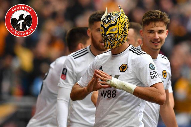 Raúl Jiménez celebró su gol con una máscara de Sin Cara