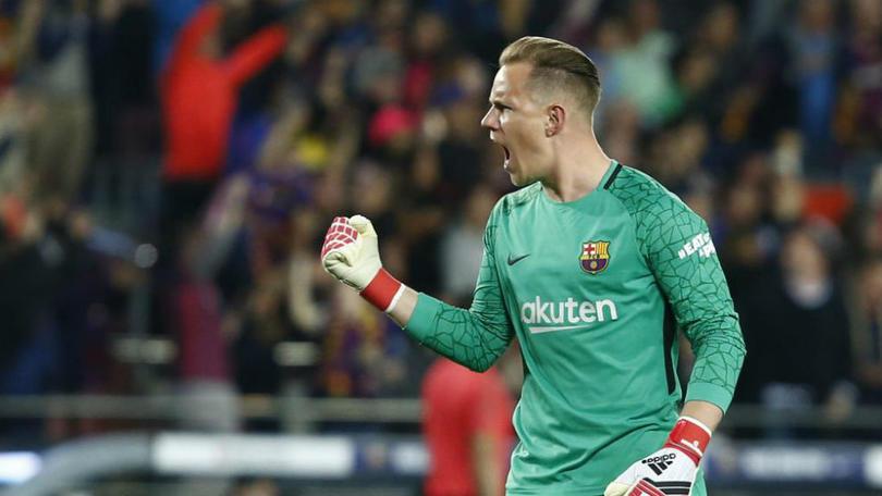 Marc-André ter Stegen en un partido con Barcelona