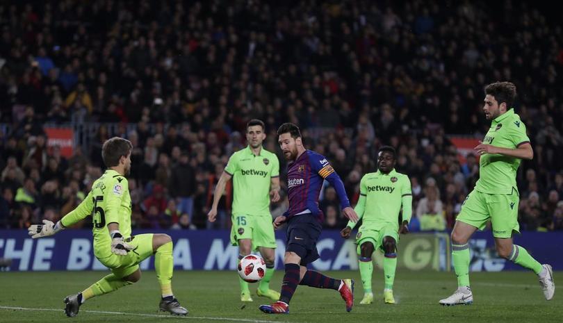 Barcelona vs Levante en la Copa del Rey