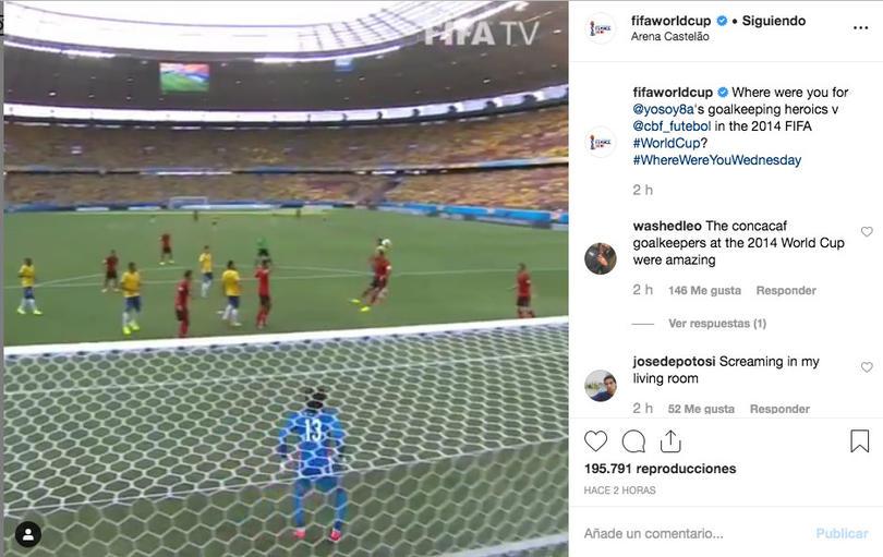 La FIFA recordó las atajadas de Ochoa en el Mundial 2014