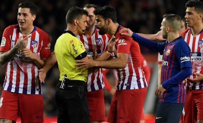 Diego Costa insultó a Gil Manzano y fue suspendido 8 partidos