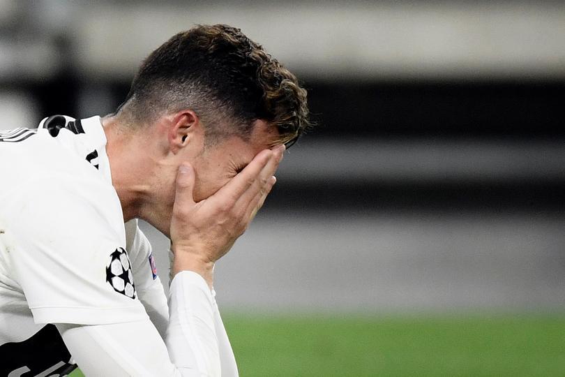 Cristiano Ronaldo tras perder contra el Ajax en Champions
