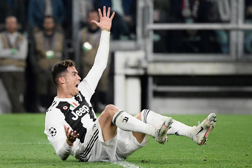 Cristiano Ronaldo durante Champions en el juego contra Ajax