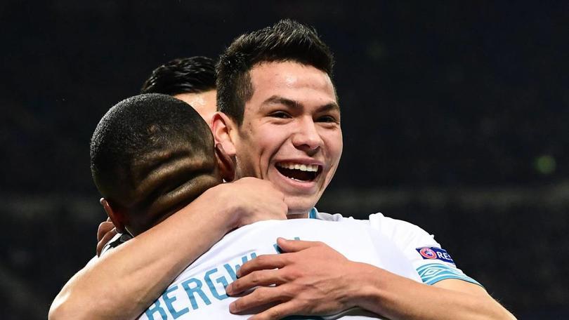 Hirving Lozano marcó el gol que eliminó al Inter de la Champions