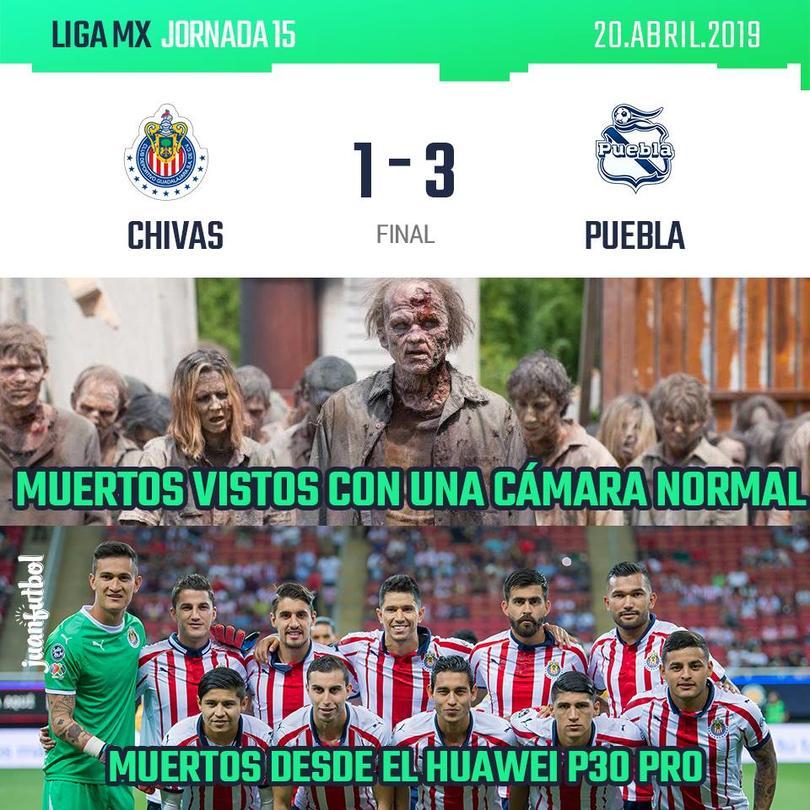 Los mejores memes que dejaron la derrota de Chivas contra Puebla