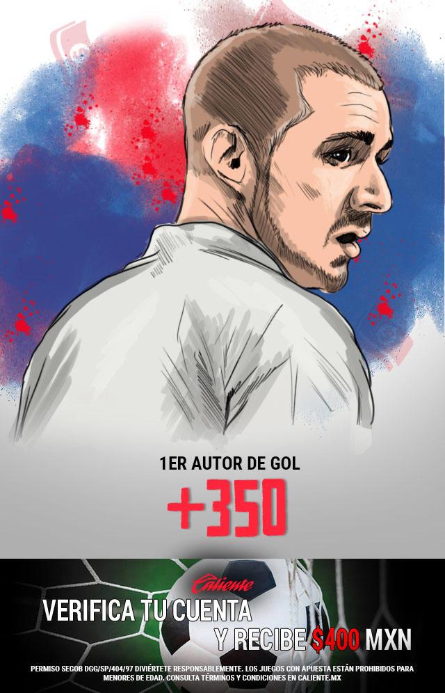 Si crees que Benzema anota gol primero vs Athletic Bilbao, apuesta en Caliente y llévate mucho dinero.