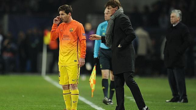 Tito Vilanova convenció a Messi de permanecer en el club