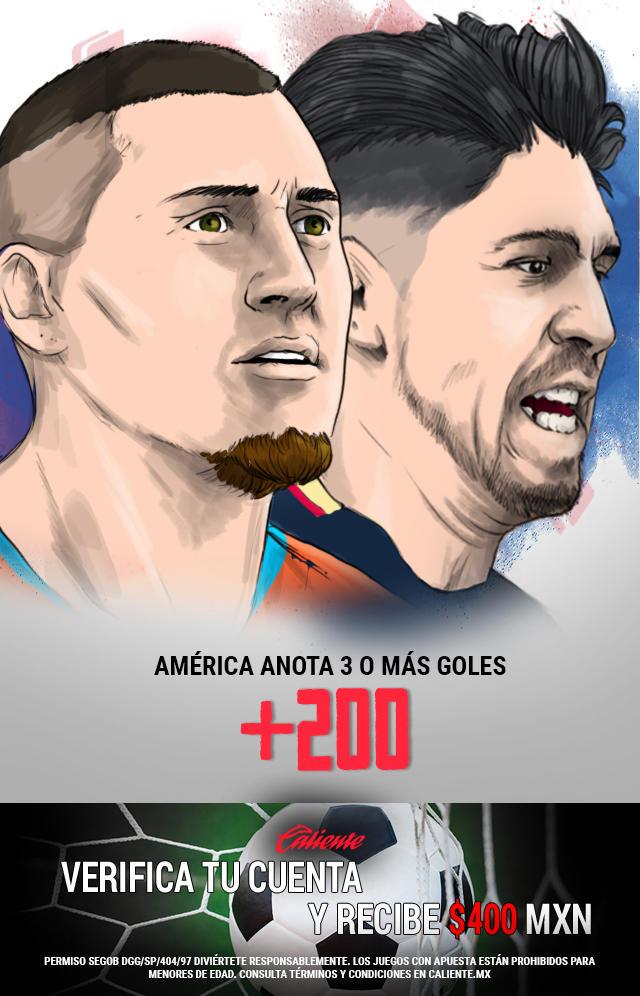Si crees que América anota 3 o más goles vs Santos, apuesta en Caliente y llévate mucho dinero.