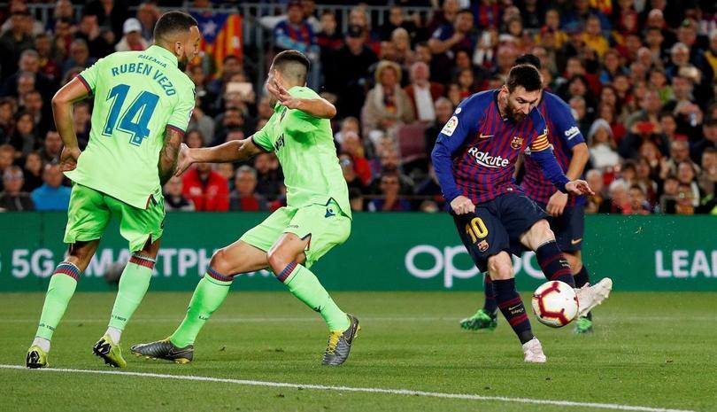 Messi hizo el gol que confirmó La Liga 26 para el Barcelona