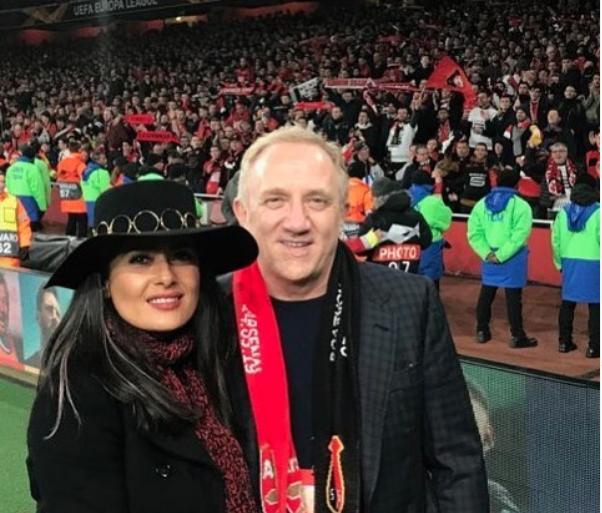 Salma Hayek felicitó al Rennes' por ganar la Copa de Francia al PSG