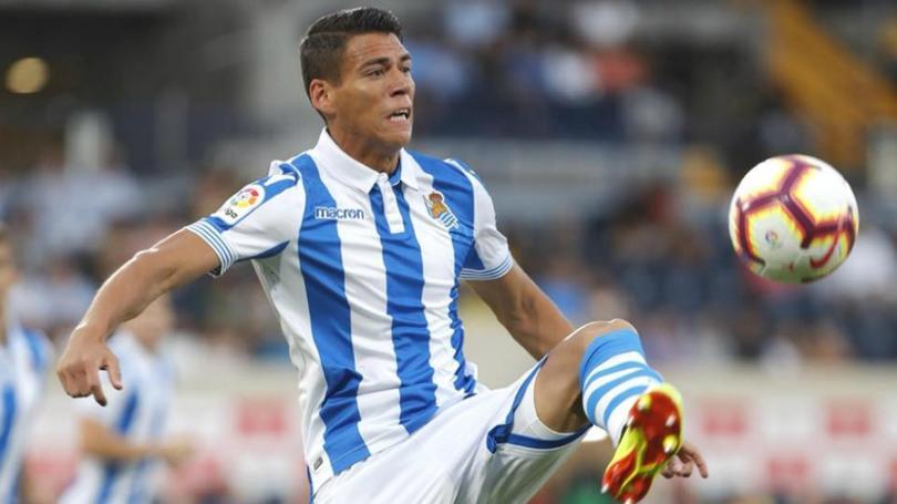 Héctor Moreno volvió a jugar con la Real Sociedad