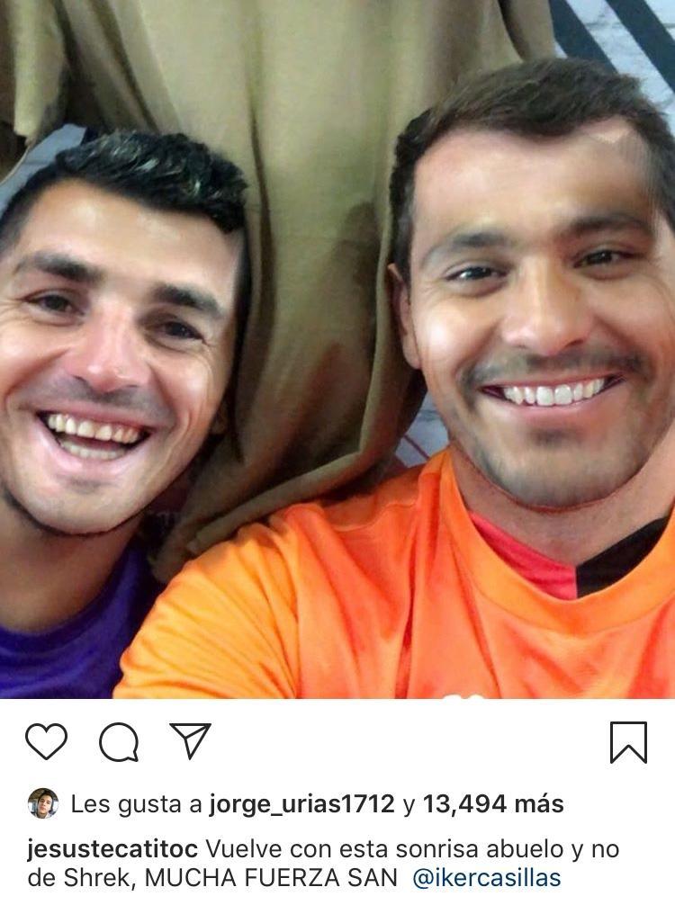 Jesús Corona e Íker Casillas