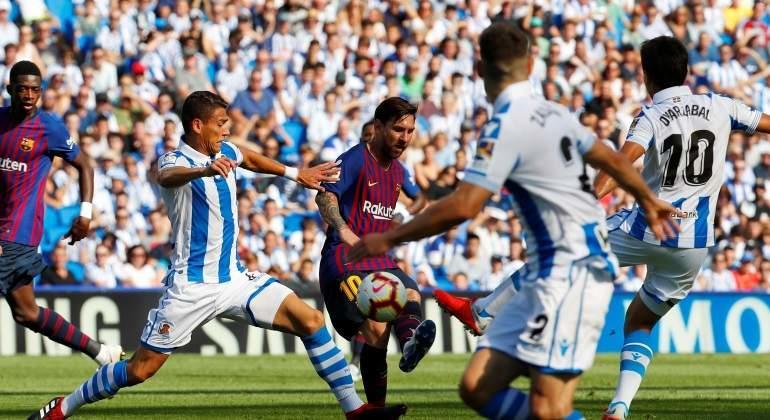 Héctor Moreno en un partido ante Barcelona
