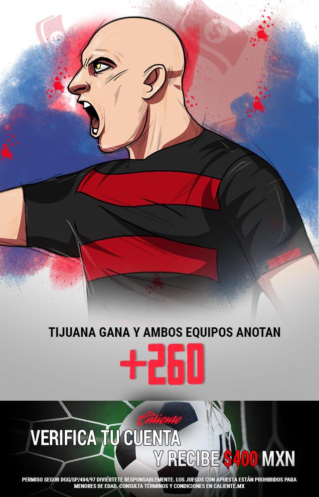 Si crees que Xolos gana vs Puebla y ambos equipos anotan, apuesta en Caliente y llévate mucho dinero.