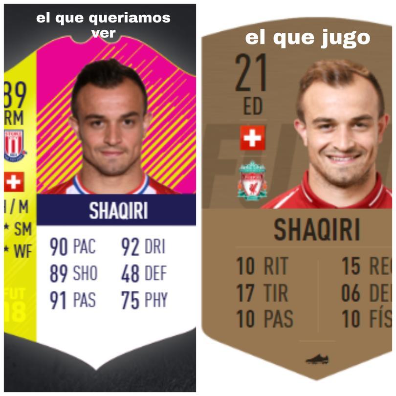 El partido de Shaquiri