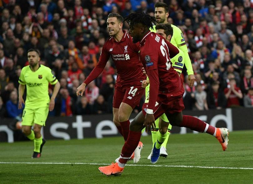 Origi hizo el gol que tiene al Liverpool en la final de Champions